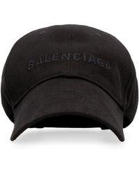 Balenciaga Cappello da baseball con logo - Nero