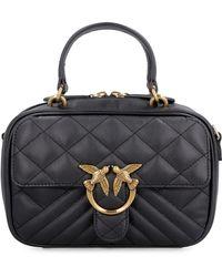 Pinko Mini Love Leather Bag - Black
