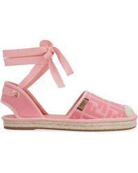 Fendi Ff Espadrilles - Pink