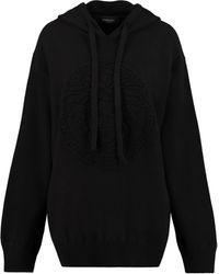 Versace Knitted Hoodie - Black