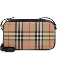 Burberry Camera bag in canvas check - Neutro