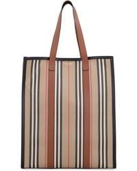 Burberry Tote bag stampa Icon Stripe - Neutro