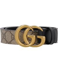 Gucci - GG Belt With Double G Buckle - Lyst