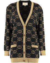 Gucci GG Jacquard-knit Wool-blend Sweater - Black