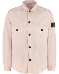 Stone Island Cotton Overshirt - Pink
