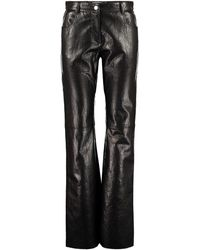 MSGM Pantaloni in ecopelle - Nero