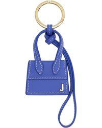 Jacquemus Le Chiquito Leather Keyring - Blue