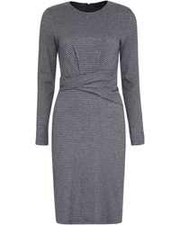 Weekend by Maxmara Musette Houndstooth Sheath Dress - Grey