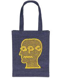 A.P.C. X Brain Dead Denim Tote - Blue