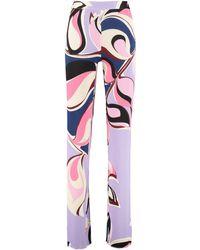 Emilio Pucci Printed High-rise Pants - Purple