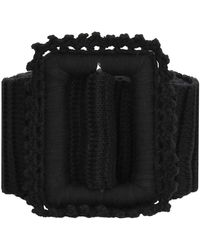 MSGM Knitted Belt - Black