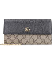 Gucci Wallet on chain GG Marmont - Neutro