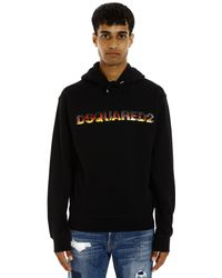 DSquared² Flame Logo Hoodie - Black