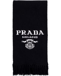 Prada Wool And Cashemre Scarf - Black