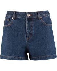 A.P.C. Standard Denim Shorts - Blue