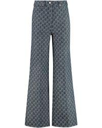 Gucci 5-pocket Bootcut Jeans - Blue