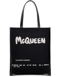Alexander McQueen Tote bag con logo - Nero