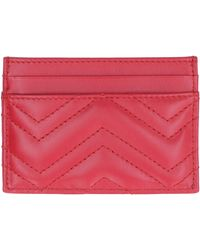 Gucci - GG Marmont Leather Card Holder - Lyst
