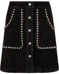 Golden Goose Deluxe Brand Artemide Suede Mini-skirt - Black
