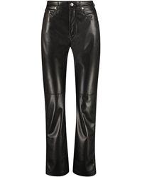 Nanushka Vinni Faux Leather Trousers - Black