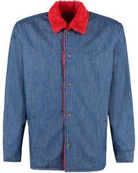 Levi's Car coat Sherpa in denim - Levi's Vintage Clothing - Blu