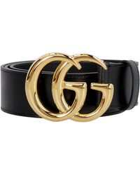 Gucci GG Marmont Leather Belt - Black
