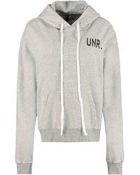 Unravel Project Long-sleeved Logo-print Hoodie - Grey