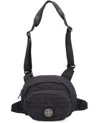 Stone Island Belt Bag In Black