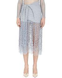 Jacquemus Capri Woven Fringed Skirt - Blue