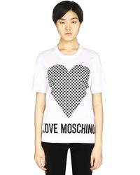 Love Moschino Printed Cotton T-shirt - White