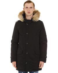 Woolrich Polar Parka With Fur Trimmed Hood - Black