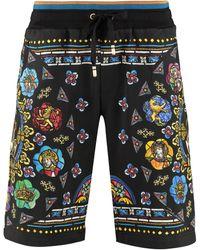 Dolce & Gabbana Cotton Bermuda Shorts - Multicolor