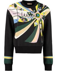 Emilio Pucci Printed Cotton Sweatshirt - Black