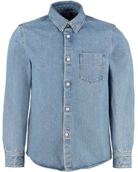 A.P.C. Overshirt Victor in cotone - Blu