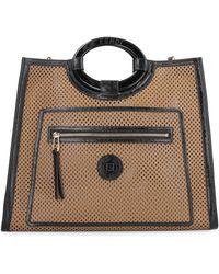 Fendi Runaway Leather Shopping Bag - Natural
