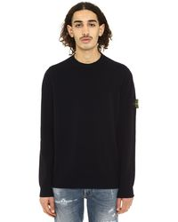 Stone Island Long-sleeved Crew-neck Jumper - Blue