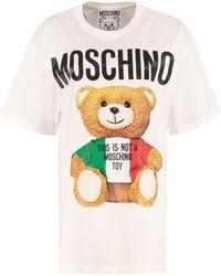 Moschino T-shirt oversize stampata - Bianco