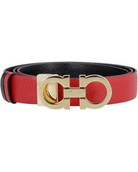 Ferragamo - Gancini Reversible Leather Belt - Lyst