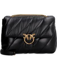 Pinko - Love Big Puff Leather Bag - Lyst