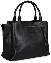 MICHAEL Michael Kors Arielle Pebbled Leather Handbag - Black