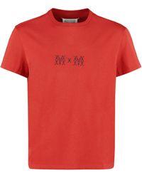 Maison Margiela Cotton Crew-neck T-shirt - Red