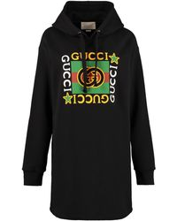 Gucci Cotton Hoodie Dress - Black