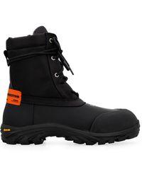 Heron Preston Lace-up Ankle Boots - Black