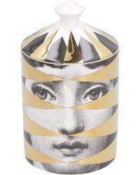 Fornasetti Candela profumata Gold Losanghe, 300g - Metallizzato