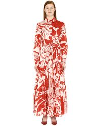 LaDoubleJ Bellini Belted Shirtdress - Red