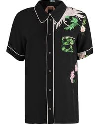 N°21 Printed Short Sleeve Shirt - Black