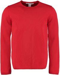 Comme des Garçons Long-sleeved Crew-neck Jumper - Red