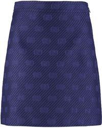 Gucci Jacquard Mini Skirt - Blue
