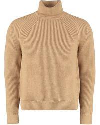 BOSS by HUGO BOSS Gilo Turtleneck Virgin-wool Pullover - Natural