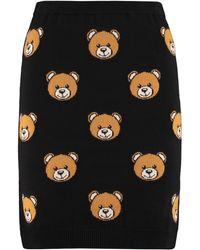 Moschino Knitted Mini Skirt - Black